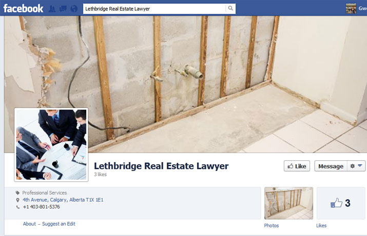 Lethbridge Real Estate Lawyer Facebook Page